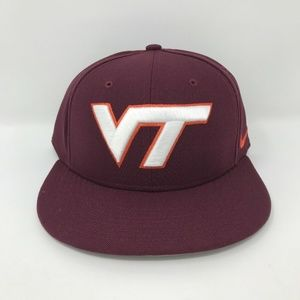 Virginia Tech Baseball Nike Fitted Hat Size 7 1/4